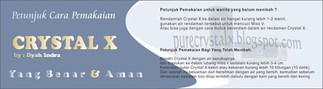 gambar cara pemakaian crystal x yang benar