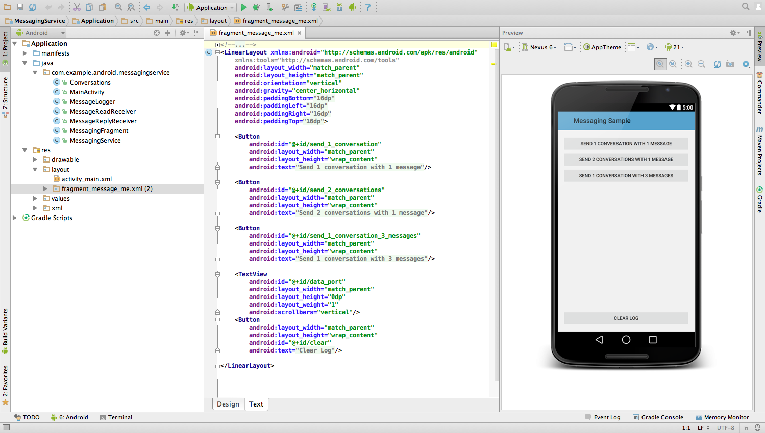 Mobile app code examples.