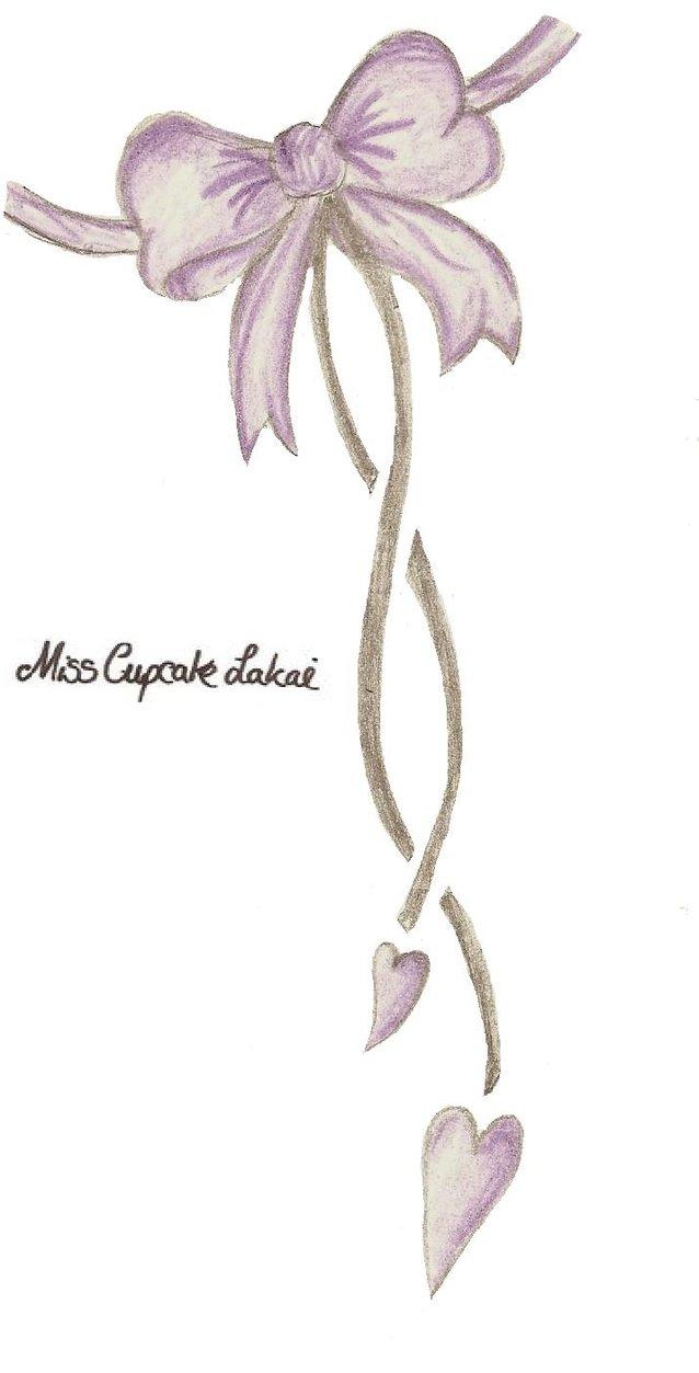 reneegoudeau: ribbon tattoos designs for women