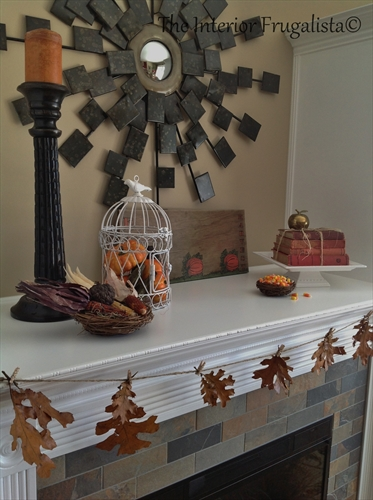 Fall fireplace mantle