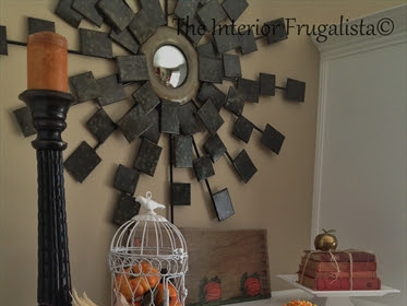Decorating the fireplace mantle for Fall