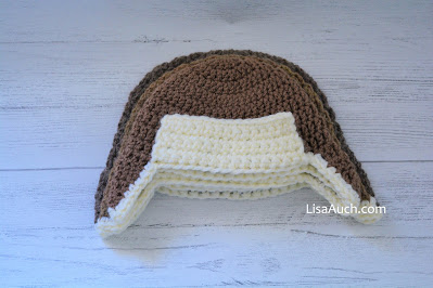 Free crochet baby hat with Earflaps