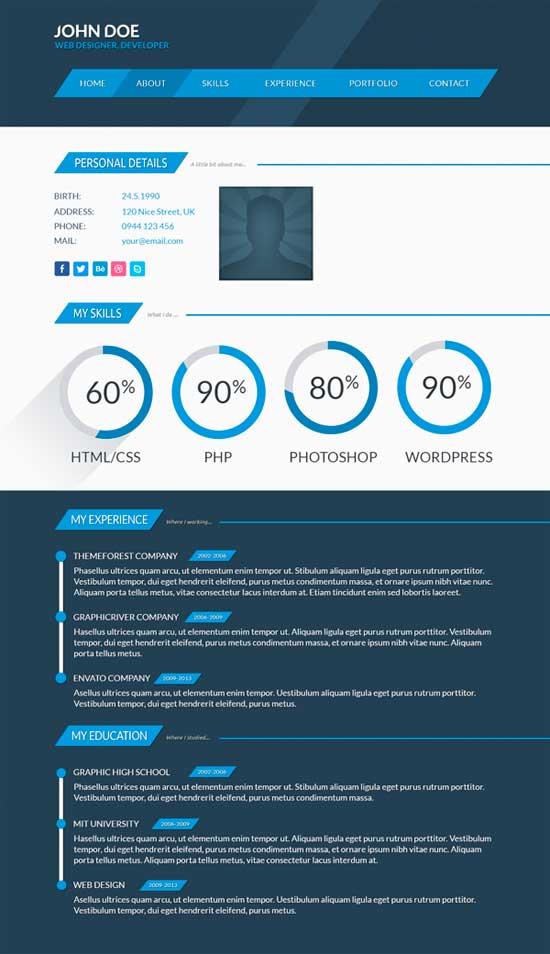 Free Creative Resume Template 08