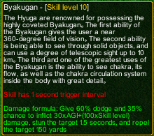 naruto castle defense 6.4 Byakugan detail
