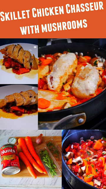 Skillet Chicken Chasseur with mushrooms