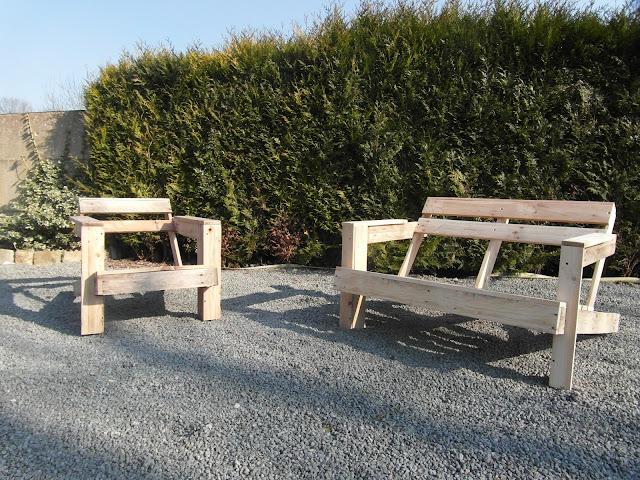 dennin bois petit salon de jardin. Black Bedroom Furniture Sets. Home Design Ideas
