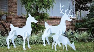 Decoracion de Navidad con Renos, parte 3