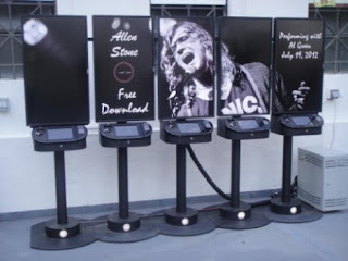Ovation Tower Kiosks image from Bobby Owsinski's Music 3.0 blog