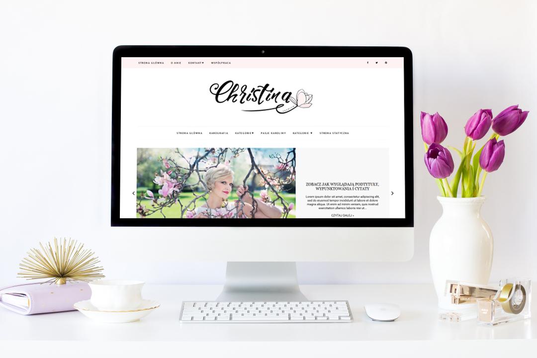 Kolejny szablon na bloggera (blogspota) do kupienia - Christina Premium!