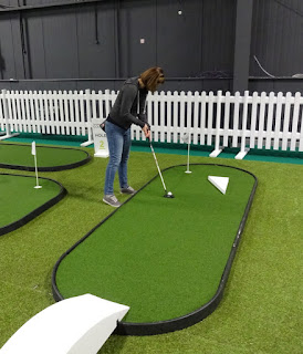 Adventure Putting minigolf at the American Golf Show in Manchester