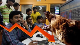 Sensex Nifty down