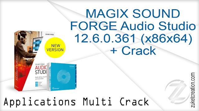 MAGIX SOUND FORGE Audio Studio 12.6.0.361 (x86x64) + Crack