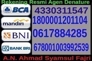 Rekening Obat de nature A.n: Ahmad Syamsul Fajri