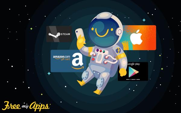 تطبيق freemyapps للحصول على بطاقات مجانية