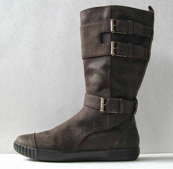 Cole Haan Nike Air Brown Leather Motorcycle Boots Womens