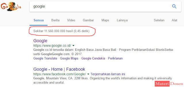 Google sangat Cepat dalam Melakukan Pencarian