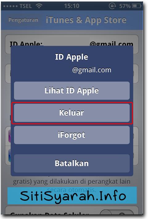 Cara Keluar ID iPhone