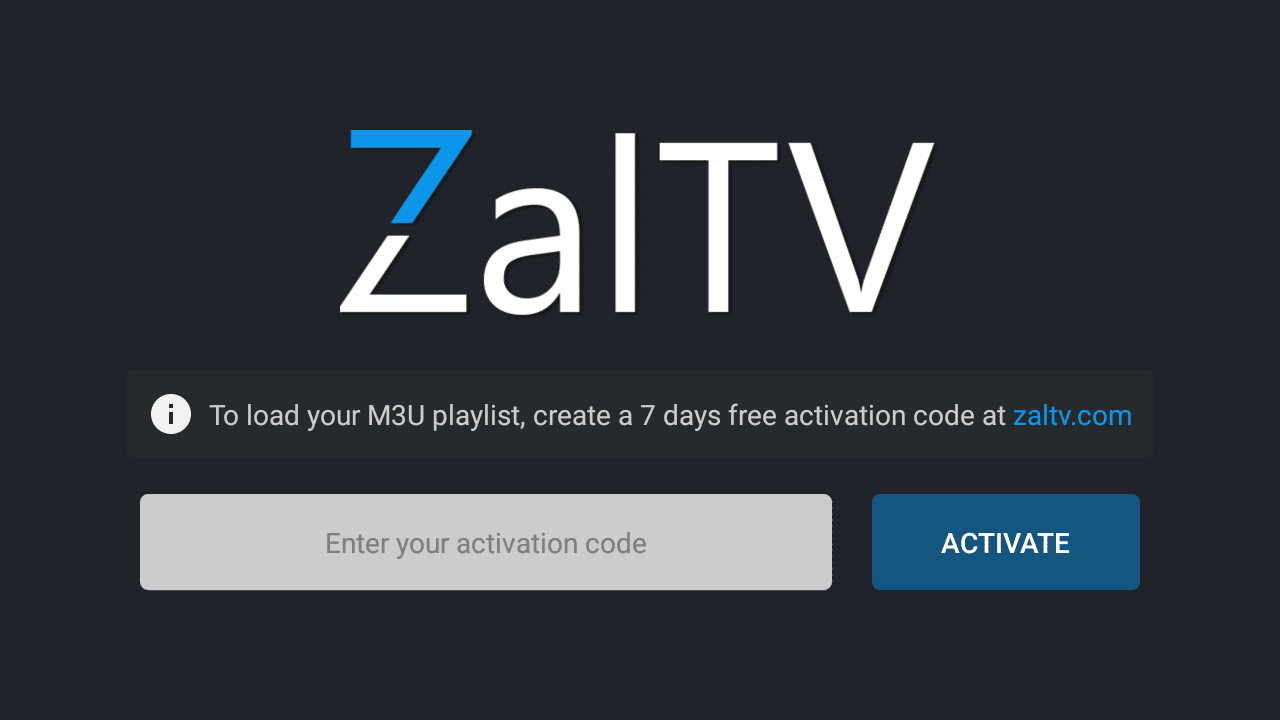 ZalTV IPTV Player aplikasi android Live Streaming tv online