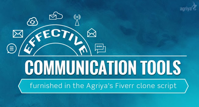 Effective communication tools furnished in the Agriya's