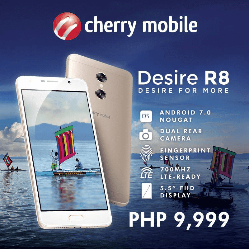 Cherry Mobile Desire R8 With Dual Cameras Now In Stores For PHP 9999
