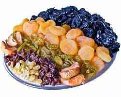Frutas secas têm grande valor nutritivo