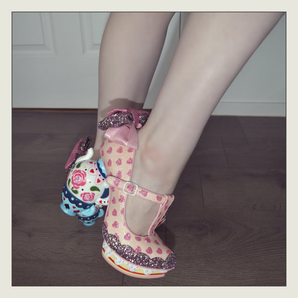 wearing irregular choice my cup of tea alice detail