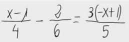 32. Ecuación de primer grado (fracciones)