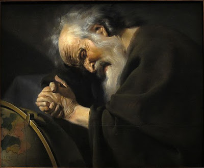 Painting of Heraclitus sleeping; painted by Johannes Moreelse (after 1602–1634)