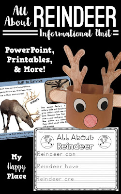 Reindeer PowerPoint Slideshow, Craft, and More