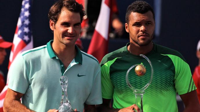 Wallpaper: Tsonga vs Federer Tennis 2014