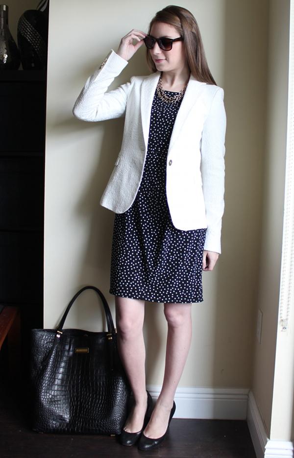 25735af30ee miami fashion blog, lawyer style fashion blog, ann taylor polka dot dress,  zara