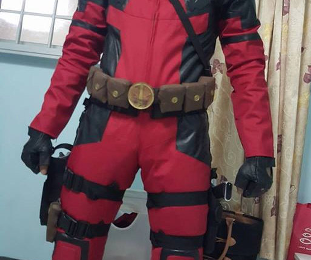 Deadpool Motorcycle Suit