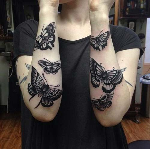 kelebek kadın kol dövmeleri butterfly arm tattoo for woman