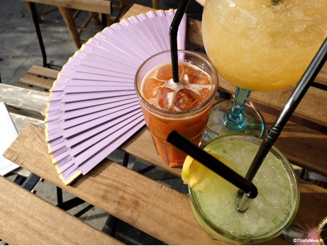 Cocktails evjf Brunch en Terrasse industrielle à Paris Les Petites Gouttes esplanade Nathalie Sarraute 18eme eco quartier Pujol