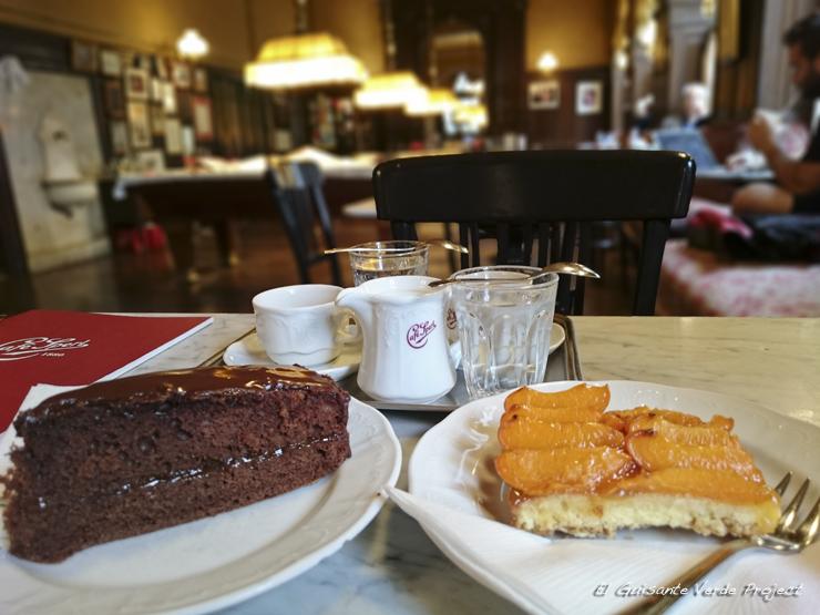 Tarta Sacher en Cafe Sperl Kaffeehaus - Viena, por El Guisante Verde Project