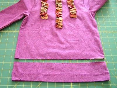 cómo hacer un vestido fácil de niña con una camiseta