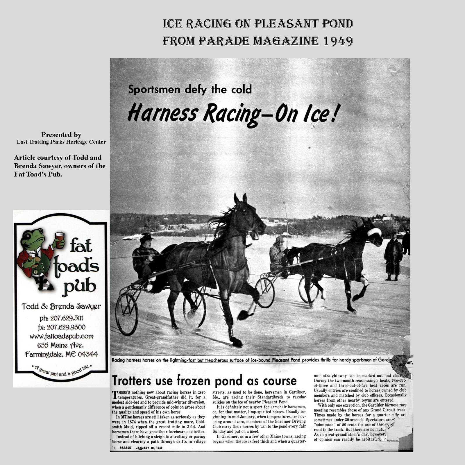 The Lost Trotting Parks Heritage Center -- Storyboard Archives ...