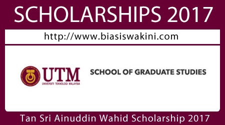 Tan Sri Ainuddin Wahid Scholarship 2017