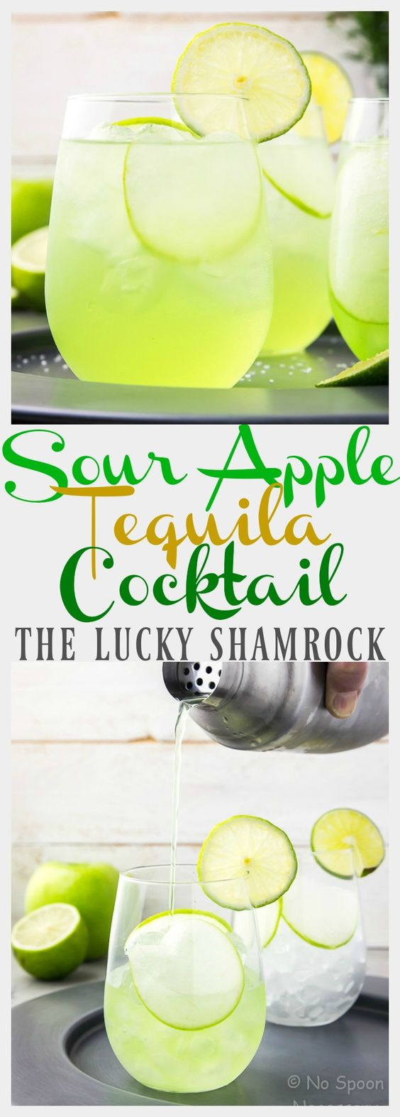 Sour Apple Tequila Cocktail