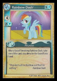 My Little Pony Rainbow Dash GenCon CCG Card