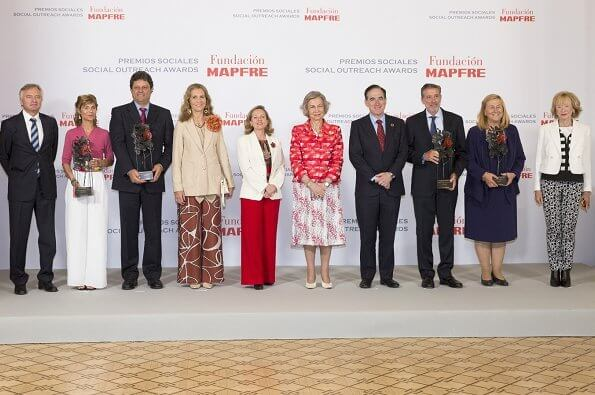 Queen Sofía and Infenta Elena attended the Mapfre Foundation's 2019 Award ceremony at The Casino de Madrid