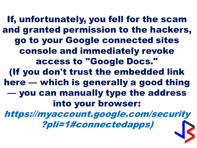 "A massive attack on Google hit millions of Gmail users after receiving an email which instructs the user to click on a document. After that, a very google-like page that will ask for your password and that's where you get infected. Experts warned that if ever you received an email which asks you to click a document, please! DO NOT CLICK IT!  This ""worm"" which arrived in the inboxes of Gmail users in the form of an email from a trusted contact asking users to click on an attached ""Google Docs,"" or GDocs, file. Clicking on the link took them to a real Google security page, where users were asked to give permission for the fake app, posing as GDocs, to have an access to the users' email account.  For added menace, this worm also sent itself out to all of the contacts of the affected user Gmail or and others spawning itself hundreds of times any time a single user was hooked on its snare.  Follow Google Docs  ✔@googledocs We are investigating a phishing email that appears as Google Docs. We encourage you to not click through & report as phishing within Gmail. 4:08 AM - 4 May 2017       4,6234,623 Retweets     2,5192,519 likes It is a common strategy but what puzzled millions of affected users was the sophisticated construction of the malicious link which was so realistic; from the email sender to the link that remarkably looks real. Worms or phishing attacks generally access your personal information like passwords of your bank accounts, social media accounts, and others.  This gmail/docs hack is clever. It's abusing oauth to gain access to accounts. 4:51 AM - 4 May 2017       Retweets     11 like    Follow St George Police @sgcitypubsafety Do you Goole? Or use GMAIL? Watch out for this scam & spread the word (not the virus!) https://www.reddit.com/r/google/comments/692cr4/new_google_docs_phishing_scam_almost_undetectable/ … 4:50 AM - 4 May 2017  Photo published for New Google Docs phishing scam, almost undetectable • r/google New Google Docs phishing scam, almost undetectable • r/google I received a phishing email today, and very nearly fell for it. I'll go through the steps here: 1. I [received an... reddit.com       22 Retweets     44 likes   View image on Twitter View image on Twitter   Follow CortlandtDailyVoice @CortlandtDV Westchester School Officials Warn Of Gmail Email 'Situation' http://dlvr.it/P3KdGC  4:50 AM - 4 May 2017       11 Retweet     11 like    Follow Shane Gustafson  ✔@Shane_WMBD SCAM ALERT: Gmail accounts across the country have been hacked, several agencies are asking you to be aware. http://www.centralillinoisproud.com/news/local-news/gmail-hack-hits-central-illinois/705935084 … 4:48 AM - 4 May 2017  Photo published for Gmail Hack Hits Central Illinois Gmail Hack Hits Central Illinois An attack against Gmail accounts across the country also targets several agencies in central Illinois. centralillinoisproud.com       66 Retweets     33 likes    Follow Lance @lancewmccarthy Man, gmail's getting hammered today with spam and phishing attacks. 4:49 AM - 4 May 2017       11 Retweet     11 like Within an hour,  a red warning began appearing with the malicious email that says it could be a phishing attack.   View image on Twitter View image on Twitter   Follow Jen Lee Reeves @jenleereeves Be careful, Twitter people with Gmail accounts! Do not click on the ""doc share"" box. It's a solid attempt at phishing. 4:14 AM - 4 May 2017       44 Retweets     77 likes    However, Google said that they had ""disabled"" the malicious accounts and pushed updates to all users. They also said that it only affected ""fewer than 0.1 percent of Gmail users"" still be about 1 million of the service's roughly 1 billion users around the world.  What do you have to do if you experienced similar phishing attacks?        Source: NBC Recommended:  Do You Need Money For Tuition Fee For The Next School Year? You Need To Watch This Do you need money for your tuition fee to be able to study this coming school year? The Philippine government might be able to help you. All you need to do is to follow these steps:  -Inquire at the state college or university where you want to study.  -Bring Identification forms. If your family is a 4Ps subsidiary, prepare and bring your 4Ps identification card. For families who are not a member of 4Ps, bring your family's proof of income.  -Bring the registration form from your state college or university where you want to study.   Nicholas Tenazas, Deputy executive Director of CHED-UniFAST said that in the program, the state colleges and universities will not collect any tuition fee from the students. The Government will shoulder their tuition fees.  CHED-UniFAST or the Unified Student Financial Assistance For Tertiary Education otherwise known as the Republic Act 10687  which aims to provide quality education to the Filipinos.  What are the qualifications for availing of the modalities of UniFAST?  The applicant for any of the modalities under the UniFAST must meet the following minimum qualifications:  (a) must be a Filipino citizen, but the Board may grant exemptions to foreign students based on reciprocal programs that provide similar benefits to Filipino students, such as student exchange programs, international reciprocal Scholarships, and other mutually beneficial programs;   (b) must be a high school graduate or its equivalent from duly authorized institutions;   (c) must possess good moral character with no criminal record, but this requirement shall be waived for programs which target children in conflict with the law and those who are undergoing or have undergone rehabilitation;   (d) must be admitted to the higher education institution (HEI) or TVI included in the Registry of Programs and Institutions of the applicant's choice, provided that the applicant shall be allowed to begin processing the application within a reasonable time frame set by the Board to give the applicant sufficient time to enroll;   (e) in the case of technical-vocational education and training or TVET programs, must have passed the TESDA screening/assessment procedure, trade test, or skills competency evaluation; and   (f) in the case of scholarship, the applicant must obtain at least the score required by the Board for the Qualifying Examination System for Scoring Students and must possess such other qualifications as may be prescribed by the Board.  The applicant has to declare also if he or she is already a beneficiary of any other student financial assistance, including government StuFAP. However, if at the time of application of the scholarship, grant-in-aid, student loan, or other modalities of StuFAP under this Act, the amount of such other existing grant does not cover the full cost of tertiary education at the HEI or TVI where the applicant has enrolled in, the applicant may still avail of the StuFAPs under this Act for the remaining portion. Recommended:  Starting this August, the Land Transportation Office (LTO) will possibly release the driver's license with validity of 5 years as President Duterte earlier promised.  LTO Chief Ed Galvante said, LTO started the renewal of driver's license with a validity of 5 years since last year but due to the delay of the supply of the plastic cards, they are only able to issue receipts. The LTO is optimistic that the plastic cards will be available on the said month.  Meanwhile, the LTO Chief has uttered support to the program of the Land Transportation Franchising and Regulatory Board (LTFRB) which is the establishment of the Driver's Academy which will begin this month  Public Utility Drivers will be required to attend the one to two days classes. At the academy, they will learn the traffic rules and regulations, LTFRB policies, and they will also be taught on how to avoid road rage. Grab and Uber drivers will also be required to undergo the same training.  LTFRB board member Aileen Lizada said that they will conduct an exam after the training and if the drivers passed, they will be given an ID Card.  The list of the passers will be then listed to their database. The operators will be able to check the status of the drivers they are hiring. Recommended:    Transfer to other employer   An employer can grant a written permission to his employees to work with another employer for a period of six months, renewable for a similar period.  Part time jobs are now allowed   Employees can take up part time job with another employer, with a written approval from his original employer, the Ministry of Interior said yesterday.   Staying out of Country, still can come back?  Expatriates staying out of the country for more than six months can re-enter the country with a ""return visa"", within a year, if they hold a Qatari residency permit (RP) and after paying the fine.    Newborn RP possible A newborn baby can get residency permit within 90 days from the date of birth or the date of entering the country, if the parents hold a valid Qatari RP.  No medical check up Anyone who enters the country on a visit visa or for other purposes are not required to undergo the mandatory medical check-up if they stay for a period not more than 30 days. Foreigners are not allowed to stay in the country after expiry of their visa if not renewed.   E gates for all  Expatriates living in Qatar can leave and enter the country using their Qatari IDs through the e-gates.  Exit Permit Grievances Committee According to Law No 21 of 2015 regulating entry, exit and residency of expatriates, which was enforced on December 13, last year, expatriate worker can leave the country immediately after his employer inform the competent authorities about his consent for exit. In case the employer objected, the employee can lodge a complaint with the Exit Permit Grievances Committee which will take a decision within three working days.  Change job before or after contract , complete freedom  Expatriate worker can change his job before the end of his work contract with or without the consent of his employer, if the contract period ended or after five years if the contract is open ended. With approval from the competent authority, the worker also can change his job if the employer died or the company vanished for any reason.   Three months for RP process  The employer must process the RP of his employees within 90 days from the date of his entry to the country.  Expat must leave within 90 days of visa expiry The employer must return the travel document (passport) to the employee after finishing the RP formalities unless the employee makes a written request to keep it with the employer. The employer must report to the authorities concerned within 24 hours if the worker left his job, refused to leave the country after cancellation of his RP, passed three months since its expiry or his visit visa ended.  If the visa or residency permit becomes invalid the expat needs to leave the country within 90 days from the date of its expiry. The expat must not violate terms and the purpose for which he/she has been granted the residency permit and should not work with another employer without permission of his original employer. In case of a dispute the Interior Minister or his representative has the right to allow an expatriate worker to work with another employer temporarily with approval from the Ministry of Administrative Development,Labour and Social Affairs. Source:qatarday.com Recommended:      The Barangay Micro Business Enterprise Program (BMBE) or Republic Act No. 9178 of the Department of Trade and Industry (DTI) started way back 2002 which aims to help people to start their small business by providing them incentives and other benefits.  If you have a small business that belongs to manufacturing, production, processing, trading and services with assets not exceeding P3 million you can benefit from BMBE Program of the government.  Benefits include:  Income tax exemption from income arising from the operations of the enterprise;   Exemption from the coverage of the Minimum Wage Law (BMBE 1) 2) 3) 2 employees will still receive the same social security and health care benefits as other employees);   Priority to a special credit window set up specifically for the financing requirements of BMBEs; and  Technology transfer, production and management training, and marketing assistance programs for BMBE beneficiaries.  Gina Lopez Confirmation as DENR Secretary Rejected; Who Voted For Her and Who Voted Against?   ©2017 THOUGHTSKOTO www.jbsolis.com SEARCH JBSOLIS   The Barangay Micro Business Enterprise Program (BMBE) or Republic Act No. 9178 of the Department of Trade and Industry (DTI) started way back 2002 which aims to help people to start their small business by providing them incentives and other benefits.  If you have a small business that belongs to manufacturing, production, processing, trading and services with assets not exceeding P3 million you can benefit from BMBE Program of the government.   Benefits include: Income tax exemption from income arising from the operations of the enterprise;   Exemption from the coverage of the Minimum Wage Law (BMBE 1) 2) 3) 2 employees will still receive the same social security and health care benefits as other employees);   Priority to a special credit window set up specifically for the financing requirements of BMBEs; and  Technology transfer, production and management training, and marketing assistance programs for BMBE beneficiaries.  Gina Lopez Confirmation as DENR Secretary Rejected; Who Voted For Her and Who Voted Against? Transfer to other employer   An employer can grant a written permission to his employees to work with another employer for a period of six months, renewable for a similar period.  Part time jobs are now allowed   Employees can take up part time job with another employer, with a written approval from his original employer, the Ministry of Interior said yesterday.   Staying out of Country, still can come back?  Expatriates staying out of the country for more than six months can re-enter the country with a ""return visa"", within a year, if they hold a Qatari residency permit (RP) and after paying the fine.    Newborn RP possible A newborn baby can get residency permit within 90 days from the date of birth or the date of entering the country, if the parents hold a valid Qatari RP.  No medical check up Anyone who enters the country on a visit visa or for other purposes are not required to undergo the mandatory medical check-up if they stay for a period not more than 30 days. Foreigners are not allowed to stay in the country after expiry of their visa if not renewed.   E gates for all  Expatriates living in Qatar can leave and enter the country using their Qatari IDs through the e-gates.  Exit Permit Grievances Committee According to Law No 21 of 2015 regulating entry, exit and residency of expatriates, which was enforced on December 13, last year, expatriate worker can leave the country immediately after his employer inform the competent authorities about his consent for exit. In case the employer objected, the employee can lodge a complaint with the Exit Permit Grievances Committee which will take a decision within three working days.  Change job before or after contract , complete freedom  Expatriate worker can change his job before the end of his work contract with or without the consent of his employer, if the contract period ended or after five years if the contract is open ended. With approval from the competent authority, the worker also can change his job if the employer died or the company vanished for any reason.   Three months for RP process  The employer must process the RP of his employees within 90 days from the date of his entry to the country.  Expat must leave within 90 days of visa expiry The employer must return the travel document (passport) to the employee after finishing the RP formalities unless the employee makes a written request to keep it with the employer. The employer must report to the authorities concerned within 24 hours if the worker left his job, refused to leave the country after cancellation of his RP, passed three months since its expiry or his visit visa ended.  If the visa or residency permit becomes invalid the expat needs to leave the country within 90 days from the date of its expiry. The expat must not violate terms and the purpose for which he/she has been granted the residency permit and should not work with another employer without permission of his original employer. In case of a dispute the Interior Minister or his representative has the right to allow an expatriate worker to work with another employer temporarily with approval from the Ministry of Administrative Development,Labour and Social Affairs. Source:qatarday.com Recommended:      The Barangay Micro Business Enterprise Program (BMBE) or Republic Act No. 9178 of the Department of Trade and Industry (DTI) started way back 2002 which aims to help people to start their small business by providing them incentives and other benefits.  If you have a small business that belongs to manufacturing, production, processing, trading and services with assets not exceeding P3 million you can benefit from BMBE Program of the government.  Benefits include:  Income tax exemption from income arising from the operations of the enterprise;   Exemption from the coverage of the Minimum Wage Law (BMBE 1) 2) 3) 2 employees will still receive the same social security and health care benefits as other employees);   Priority to a special credit window set up specifically for the financing requirements of BMBEs; and  Technology transfer, production and management training, and marketing assistance programs for BMBE beneficiaries.  Gina Lopez Confirmation as DENR Secretary Rejected; Who Voted For Her and Who Voted Against?   ©2017 THOUGHTSKOTO www.jbsolis.com SEARCH JBSOLIS  ©2017 THOUGHTSKOTO www.jbsolis.com SEARCH JBSOLIS Starting this August, the Land Transportation Office (LTO) will possibly release the driver's license with validity of 5 years as President Duterte earlier promised.  LTO Chief Ed Galvante said, LTO started the renewal of driver's license with a validity of 5 years since last year but due to the delay of the supply of the plastic cards, they are only able to issue receipts. The LTO is optimistic that the plastic cards will be available on the said month.     Transfer to other employer   An employer can grant a written permission to his employees to work with another employer for a period of six months, renewable for a similar period.  Part time jobs are now allowed   Employees can take up part time job with another employer, with a written approval from his original employer, the Ministry of Interior said yesterday.   Staying out of Country, still can come back?  Expatriates staying out of the country for more than six months can re-enter the country with a ""return visa"", within a year, if they hold a Qatari residency permit (RP) and after paying the fine.    Newborn RP possible A newborn baby can get residency permit within 90 days from the date of birth or the date of entering the country, if the parents hold a valid Qatari RP.  No medical check up Anyone who enters the country on a visit visa or for other purposes are not required to undergo the mandatory medical check-up if they stay for a period not more than 30 days. Foreigners are not allowed to stay in the country after expiry of their visa if not renewed.   E gates for all  Expatriates living in Qatar can leave and enter the country using their Qatari IDs through the e-gates.  Exit Permit Grievances Committee According to Law No 21 of 2015 regulating entry, exit and residency of expatriates, which was enforced on December 13, last year, expatriate worker can leave the country immediately after his employer inform the competent authorities about his consent for exit. In case the employer objected, the employee can lodge a complaint with the Exit Permit Grievances Committee which will take a decision within three working days.  Change job before or after contract , complete freedom  Expatriate worker can change his job before the end of his work contract with or without the consent of his employer, if the contract period ended or after five years if the contract is open ended. With approval from the competent authority, the worker also can change his job if the employer died or the company vanished for any reason.   Three months for RP process  The employer must process the RP of his employees within 90 days from the date of his entry to the country.  Expat must leave within 90 days of visa expiry The employer must return the travel document (passport) to the employee after finishing the RP formalities unless the employee makes a written request to keep it with the employer. The employer must report to the authorities concerned within 24 hours if the worker left his job, refused to leave the country after cancellation of his RP, passed three months since its expiry or his visit visa ended.  If the visa or residency permit becomes invalid the expat needs to leave the country within 90 days from the date of its expiry. The expat must not violate terms and the purpose for which he/she has been granted the residency permit and should not work with another employer without permission of his original employer. In case of a dispute the Interior Minister or his representative has the right to allow an expatriate worker to work with another employer temporarily with approval from the Ministry of Administrative Development,Labour and Social Affairs. Source:qatarday.com Recommended:      The Barangay Micro Business Enterprise Program (BMBE) or Republic Act No. 9178 of the Department of Trade and Industry (DTI) started way back 2002 which aims to help people to start their small business by providing them incentives and other benefits.  If you have a small business that belongs to manufacturing, production, processing, trading and services with assets not exceeding P3 million you can benefit from BMBE Program of the government.  Benefits include:  Income tax exemption from income arising from the operations of the enterprise;   Exemption from the coverage of the Minimum Wage Law (BMBE 1) 2) 3) 2 employees will still receive the same social security and health care benefits as other employees);   Priority to a special credit window set up specifically for the financing requirements of BMBEs; and  Technology transfer, production and management training, and marketing assistance programs for BMBE beneficiaries.  Gina Lopez Confirmation as DENR Secretary Rejected; Who Voted For Her and Who Voted Against?   ©2017 THOUGHTSKOTO www.jbsolis.com SEARCH JBSOLIS    The Barangay Micro Business Enterprise Program (BMBE) or Republic Act No. 9178 of the Department of Trade and Industry (DTI) started way back 2002 which aims to help people to start their small business by providing them incentives and other benefits.  If you have a small business that belongs to manufacturing, production, processing, trading and services with assets not exceeding P3 million you can benefit from BMBE Program of the government.  Benefits include: Income tax exemption from income arising from the operations of the enterprise;   Exemption from the coverage of the Minimum Wage Law (BMBE 1) 2) 3) 2 employees will still receive the same social security and health care benefits as other employees);   Priority to a special credit window set up specifically for the financing requirements of BMBEs; and  Technology transfer, production and management training, and marketing assistance programs for BMBE beneficiaries.  Gina Lopez Confirmation as DENR Secretary Rejected; Who Voted For Her and Who Voted Against? Transfer to other employer   An employer can grant a written permission to his employees to work with another employer for a period of six months, renewable for a similar period.  Part time jobs are now allowed   Employees can take up part time job with another employer, with a written approval from his original employer, the Ministry of Interior said yesterday.   Staying out of Country, still can come back?  Expatriates staying out of the country for more than six months can re-enter the country with a ""return visa"", within a year, if they hold a Qatari residency permit (RP) and after paying the fine.    Newborn RP possible A newborn baby can get residency permit within 90 days from the date of birth or the date of entering the country, if the parents hold a valid Qatari RP.  No medical check up Anyone who enters the country on a visit visa or for other purposes are not required to undergo the mandatory medical check-up if they stay for a period not more than 30 days. Foreigners are not allowed to stay in the country after expiry of their visa if not renewed.   E gates for all  Expatriates living in Qatar can leave and enter the country using their Qatari IDs through the e-gates.  Exit Permit Grievances Committee According to Law No 21 of 2015 regulating entry, exit and residency of expatriates, which was enforced on December 13, last year, expatriate worker can leave the country immediately after his employer inform the competent authorities about his consent for exit. In case the employer objected, the employee can lodge a complaint with the Exit Permit Grievances Committee which will take a decision within three working days.  Change job before or after contract , complete freedom  Expatriate worker can change his job before the end of his work contract with or without the consent of his employer, if the contract period ended or after five years if the contract is open ended. With approval from the competent authority, the worker also can change his job if the employer died or the company vanished for any reason.   Three months for RP process  The employer must process the RP of his employees within 90 days from the date of his entry to the country.  Expat must leave within 90 days of visa expiry The employer must return the travel document (passport) to the employee after finishing the RP formalities unless the employee makes a written request to keep it with the employer. The employer must report to the authorities concerned within 24 hours if the worker left his job, refused to leave the country after cancellation of his RP, passed three months since its expiry or his visit visa ended.  If the visa or residency permit becomes invalid the expat needs to leave the country within 90 days from the date of its expiry. The expat must not violate terms and the purpose for which he/she has been granted the residency permit and should not work with another employer without permission of his original employer. In case of a dispute the Interior Minister or his representative has the right to allow an expatriate worker to work with another employer temporarily with approval from the Ministry of Administrative Development,Labour and Social Affairs. Source:qatarday.com Recommended:      The Barangay Micro Business Enterprise Program (BMBE) or Republic Act No. 9178 of the Department of Trade and Industry (DTI) started way back 2002 which aims to help people to start their small business by providing them incentives and other benefits.  If you have a small business that belongs to manufacturing, production, processing, trading and services with assets not exceeding P3 million you can benefit from BMBE Program of the government.  Benefits include:  Income tax exemption from income arising from the operations of the enterprise;   Exemption from the coverage of the Minimum Wage Law (BMBE 1) 2) 3) 2 employees will still receive the same social security and health care benefits as other employees);   Priority to a special credit window set up specifically for the financing requirements of BMBEs; and  Technology transfer, production and management training, and marketing assistance programs for BMBE beneficiaries.  Gina Lopez Confirmation as DENR Secretary Rejected; Who Voted For Her and Who Voted Against?   ©2017 THOUGHTSKOTO www.jbsolis.com SEARCH JBSOLIS  ©2017 THOUGHTSKOTO www.jbsolis.com SEARCH JBSOLIS  Starting this August, the Land Transportation Office (LTO) will possibly release the driver's license with validity of 5 years as President Duterte earlier promised.  LTO Chief Ed Galvante said, LTO started the renewal of driver's license with a validity of 5 years since last year but due to the delay of the supply of the plastic cards, they are only able to issue receipts. The LTO is optimistic that the plastic cards will be available on the said month.  Meanwhile, the LTO Chief has uttered support to the program of the Land Transportation Franchising and Regulatory Board (LTFRB) which is the establishment of the Driver's Academy which will begin this month  Public Utility Drivers will be required to attend the one to two days classes. At the academy, they will learn the traffic rules and regulations, LTFRB policies, and they will also be taught on how to avoid road rage. Grab and Uber drivers will also be required to undergo the same training.  LTFRB board member Aileen Lizada said that they will conduct an exam after the training and if the drivers passed, they will be given an ID Card.  The list of the passers will be then listed to their database. The operators will be able to check the status of the drivers they are hiring. Recommended:    Transfer to other employer   An employer can grant a written permission to his employees to work with another employer for a period of six months, renewable for a similar period.  Part time jobs are now allowed   Employees can take up part time job with another employer, with a written approval from his original employer, the Ministry of Interior said yesterday.   Staying out of Country, still can come back?  Expatriates staying out of the country for more than six months can re-enter the country with a ""return visa"", within a year, if they hold a Qatari residency permit (RP) and after paying the fine.    Newborn RP possible A newborn baby can get residency permit within 90 days from the date of birth or the date of entering the country, if the parents hold a valid Qatari RP.  No medical check up Anyone who enters the country on a visit visa or for other purposes are not required to undergo the mandatory medical check-up if they stay for a period not more than 30 days. Foreigners are not allowed to stay in the country after expiry of their visa if not renewed.   E gates for all  Expatriates living in Qatar can leave and enter the country using their Qatari IDs through the e-gates.  Exit Permit Grievances Committee According to Law No 21 of 2015 regulating entry, exit and residency of expatriates, which was enforced on December 13, last year, expatriate worker can leave the country immediately after his employer inform the competent authorities about his consent for exit. In case the employer objected, the employee can lodge a complaint with the Exit Permit Grievances Committee which will take a decision within three working days.  Change job before or after contract , complete freedom  Expatriate worker can change his job before the end of his work contract with or without the consent of his employer, if the contract period ended or after five years if the contract is open ended. With approval from the competent authority, the worker also can change his job if the employer died or the company vanished for any reason.   Three months for RP process  The employer must process the RP of his employees within 90 days from the date of his entry to the country.  Expat must leave within 90 days of visa expiry The employer must return the travel document (passport) to the employee after finishing the RP formalities unless the employee makes a written request to keep it with the employer. The employer must report to the authorities concerned within 24 hours if the worker left his job, refused to leave the country after cancellation of his RP, passed three months since its expiry or his visit visa ended.  If the visa or residency permit becomes invalid the expat needs to leave the country within 90 days from the date of its expiry. The expat must not violate terms and the purpose for which he/she has been granted the residency permit and should not work with another employer without permission of his original employer. In case of a dispute the Interior Minister or his representative has the right to allow an expatriate worker to work with another employer temporarily with approval from the Ministry of Administrative Development,Labour and Social Affairs. Source:qatarday.com Recommended:      The Barangay Micro Business Enterprise Program (BMBE) or Republic Act No. 9178 of the Department of Trade and Industry (DTI) started way back 2002 which aims to help people to start their small business by providing them incentives and other benefits.  If you have a small business that belongs to manufacturing, production, processing, trading and services with assets not exceeding P3 million you can benefit from BMBE Program of the government.  Benefits include:  Income tax exemption from income arising from the operations of the enterprise;   Exemption from the coverage of the Minimum Wage Law (BMBE 1) 2) 3) 2 employees will still receive the same social security and health care benefits as other employees);   Priority to a special credit window set up specifically for the financing requirements of BMBEs; and  Technology transfer, production and management training, and marketing assistance programs for BMBE beneficiaries.  Gina Lopez Confirmation as DENR Secretary Rejected; Who Voted For Her and Who Voted Against?   ©2017 THOUGHTSKOTO www.jbsolis.com SEARCH JBSOLIS   The Barangay Micro Business Enterprise Program (BMBE) or Republic Act No. 9178 of the Department of Trade and Industry (DTI) started way back 2002 which aims to help people to start their small business by providing them incentives and other benefits.  If you have a small business that belongs to manufacturing, production, processing, trading and services with assets not exceeding P3 million you can benefit from BMBE Program of the government.   Benefits include: Income tax exemption from income arising from the operations of the enterprise;   Exemption from the coverage of the Minimum Wage Law (BMBE 1) 2) 3) 2 employees will still receive the same social security and health care benefits as other employees);   Priority to a special credit window set up specifically for the financing requirements of BMBEs; and  Technology transfer, production and management training, and marketing assistance programs for BMBE beneficiaries.  Gina Lopez Confirmation as DENR Secretary Rejected; Who Voted For Her and Who Voted Against? Transfer to other employer   An employer can grant a written permission to his employees to work with another employer for a period of six months, renewable for a similar period.  Part time jobs are now allowed   Employees can take up part time job with another employer, with a written approval from his original employer, the Ministry of Interior said yesterday.   Staying out of Country, still can come back?  Expatriates staying out of the country for more than six months can re-enter the country with a ""return visa"", within a year, if they hold a Qatari residency permit (RP) and after paying the fine.    Newborn RP possible A newborn baby can get residency permit within 90 days from the date of birth or the date of entering the country, if the parents hold a valid Qatari RP.  No medical check up Anyone who enters the country on a visit visa or for other purposes are not required to undergo the mandatory medical check-up if they stay for a period not more than 30 days. Foreigners are not allowed to stay in the country after expiry of their visa if not renewed.   E gates for all  Expatriates living in Qatar can leave and enter the country using their Qatari IDs through the e-gates.  Exit Permit Grievances Committee According to Law No 21 of 2015 regulating entry, exit and residency of expatriates, which was enforced on December 13, last year, expatriate worker can leave the country immediately after his employer inform the competent authorities about his consent for exit. In case the employer objected, the employee can lodge a complaint with the Exit Permit Grievances Committee which will take a decision within three working days.  Change job before or after contract , complete freedom  Expatriate worker can change his job before the end of his work contract with or without the consent of his employer, if the contract period ended or after five years if the contract is open ended. With approval from the competent authority, the worker also can change his job if the employer died or the company vanished for any reason.   Three months for RP process  The employer must process the RP of his employees within 90 days from the date of his entry to the country.  Expat must leave within 90 days of visa expiry The employer must return the travel document (passport) to the employee after finishing the RP formalities unless the employee makes a written request to keep it with the employer. The employer must report to the authorities concerned within 24 hours if the worker left his job, refused to leave the country after cancellation of his RP, passed three months since its expiry or his visit visa ended.  If the visa or residency permit becomes invalid the expat needs to leave the country within 90 days from the date of its expiry. The expat must not violate terms and the purpose for which he/she has been granted the residency permit and should not work with another employer without permission of his original employer. In case of a dispute the Interior Minister or his representative has the right to allow an expatriate worker to work with another employer temporarily with approval from the Ministry of Administrative Development,Labour and Social Affairs. Source:qatarday.com Recommended:      The Barangay Micro Business Enterprise Program (BMBE) or Republic Act No. 9178 of the Department of Trade and Industry (DTI) started way back 2002 which aims to help people to start their small business by providing them incentives and other benefits.  If you have a small business that belongs to manufacturing, production, processing, trading and services with assets not exceeding P3 million you can benefit from BMBE Program of the government.  Benefits include:  Income tax exemption from income arising from the operations of the enterprise;   Exemption from the coverage of the Minimum Wage Law (BMBE 1) 2) 3) 2 employees will still receive the same social security and health care benefits as other employees);   Priority to a special credit window set up specifically for the financing requirements of BMBEs; and  Technology transfer, production and management training, and marketing assistance programs for BMBE beneficiaries.  Gina Lopez Confirmation as DENR Secretary Rejected; Who Voted For Her and Who Voted Against?   ©2017 THOUGHTSKOTO www.jbsolis.com SEARCH JBSOLIS  ©2017 THOUGHTSKOTO www.jbsolis.com SEARCH JBSOLIS Starting this August, the Land Transportation Office (LTO) will possibly release the driver's license with validity of 5 years as President Duterte earlier promised.  LTO Chief Ed Galvante said, LTO started the renewal of driver's license with a validity of 5 years since last year but due to the delay of the supply of the plastic cards, they are only able to issue receipts. The LTO is optimistic that the plastic cards will be available on the said month.     Transfer to other employer   An employer can grant a written permission to his employees to work with another employer for a period of six months, renewable for a similar period.  Part time jobs are now allowed   Employees can take up part time job with another employer, with a written approval from his original employer, the Ministry of Interior said yesterday.   Staying out of Country, still can come back?  Expatriates staying out of the country for more than six months can re-enter the country with a ""return visa"", within a year, if they hold a Qatari residency permit (RP) and after paying the fine.    Newborn RP possible A newborn baby can get residency permit within 90 days from the date of birth or the date of entering the country, if the parents hold a valid Qatari RP.  No medical check up Anyone who enters the country on a visit visa or for other purposes are not required to undergo the mandatory medical check-up if they stay for a period not more than 30 days. Foreigners are not allowed to stay in the country after expiry of their visa if not renewed.   E gates for all  Expatriates living in Qatar can leave and enter the country using their Qatari IDs through the e-gates.  Exit Permit Grievances Committee According to Law No 21 of 2015 regulating entry, exit and residency of expatriates, which was enforced on December 13, last year, expatriate worker can leave the country immediately after his employer inform the competent authorities about his consent for exit. In case the employer objected, the employee can lodge a complaint with the Exit Permit Grievances Committee which will take a decision within three working days.  Change job before or after contract , complete freedom  Expatriate worker can change his job before the end of his work contract with or without the consent of his employer, if the contract period ended or after five years if the contract is open ended. With approval from the competent authority, the worker also can change his job if the employer died or the company vanished for any reason.   Three months for RP process  The employer must process the RP of his employees within 90 days from the date of his entry to the country.  Expat must leave within 90 days of visa expiry The employer must return the travel document (passport) to the employee after finishing the RP formalities unless the employee makes a written request to keep it with the employer. The employer must report to the authorities concerned within 24 hours if the worker left his job, refused to leave the country after cancellation of his RP, passed three months since its expiry or his visit visa ended.  If the visa or residency permit becomes invalid the expat needs to leave the country within 90 days from the date of its expiry. The expat must not violate terms and the purpose for which he/she has been granted the residency permit and should not work with another employer without permission of his original employer. In case of a dispute the Interior Minister or his representative has the right to allow an expatriate worker to work with another employer temporarily with approval from the Ministry of Administrative Development,Labour and Social Affairs. Source:qatarday.com Recommended:      The Barangay Micro Business Enterprise Program (BMBE) or Republic Act No. 9178 of the Department of Trade and Industry (DTI) started way back 2002 which aims to help people to start their small business by providing them incentives and other benefits.  If you have a small business that belongs to manufacturing, production, processing, trading and services with assets not exceeding P3 million you can benefit from BMBE Program of the government.  Benefits include:  Income tax exemption from income arising from the operations of the enterprise;   Exemption from the coverage of the Minimum Wage Law (BMBE 1) 2) 3) 2 employees will still receive the same social security and health care benefits as other employees);   Priority to a special credit window set up specifically for the financing requirements of BMBEs; and  Technology transfer, production and management training, and marketing assistance programs for BMBE beneficiaries.  Gina Lopez Confirmation as DENR Secretary Rejected; Who Voted For Her and Who Voted Against?   ©2017 THOUGHTSKOTO www.jbsolis.com SEARCH JBSOLIS  The Barangay Micro Business Enterprise Program (BMBE) or Republic Act No. 9178 of the Department of Trade and Industry (DTI) started way back 2002 which aims to help people to start their small business by providing them incentives and other benefits.  If you have a small business that belongs to manufacturing, production, processing, trading and services with assets not exceeding P3 million you can benefit from BMBE Program of the government.  Benefits include: Income tax exemption from income arising from the operations of the enterprise;   Exemption from the coverage of the Minimum Wage Law (BMBE 1) 2) 3) 2 employees will still receive the same social security and health care benefits as other employees);   Priority to a special credit window set up specifically for the financing requirements of BMBEs; and  Technology transfer, production and management training, and marketing assistance programs for BMBE beneficiaries.  Gina Lopez Confirmation as DENR Secretary Rejected; Who Voted For Her and Who Voted Against? Transfer to other employer   An employer can grant a written permission to his employees to work with another employer for a period of six months, renewable for a similar period.  Part time jobs are now allowed   Employees can take up part time job with another employer, with a written approval from his original employer, the Ministry of Interior said yesterday.   Staying out of Country, still can come back?  Expatriates staying out of the country for more than six months can re-enter the country with a ""return visa"", within a year, if they hold a Qatari residency permit (RP) and after paying the fine.    Newborn RP possible A newborn baby can get residency permit within 90 days from the date of birth or the date of entering the country, if the parents hold a valid Qatari RP.  No medical check up Anyone who enters the country on a visit visa or for other purposes are not required to undergo the mandatory medical check-up if they stay for a period not more than 30 days. Foreigners are not allowed to stay in the country after expiry of their visa if not renewed.   E gates for all  Expatriates living in Qatar can leave and enter the country using their Qatari IDs through the e-gates.  Exit Permit Grievances Committee According to Law No 21 of 2015 regulating entry, exit and residency of expatriates, which was enforced on December 13, last year, expatriate worker can leave the country immediately after his employer inform the competent authorities about his consent for exit. In case the employer objected, the employee can lodge a complaint with the Exit Permit Grievances Committee which will take a decision within three working days.  Change job before or after contract , complete freedom  Expatriate worker can change his job before the end of his work contract with or without the consent of his employer, if the contract period ended or after five years if the contract is open ended. With approval from the competent authority, the worker also can change his job if the employer died or the company vanished for any reason.   Three months for RP process  The employer must process the RP of his employees within 90 days from the date of his entry to the country.  Expat must leave within 90 days of visa expiry The employer must return the travel document (passport) to the employee after finishing the RP formalities unless the employee makes a written request to keep it with the employer. The employer must report to the authorities concerned within 24 hours if the worker left his job, refused to leave the country after cancellation of his RP, passed three months since its expiry or his visit visa ended.  If the visa or residency permit becomes invalid the expat needs to leave the country within 90 days from the date of its expiry. The expat must not violate terms and the purpose for which he/she has been granted the residency permit and should not work with another employer without permission of his original employer. In case of a dispute the Interior Minister or his representative has the right to allow an expatriate worker to work with another employer temporarily with approval from the Ministry of Administrative Development,Labour and Social Affairs. Source:qatarday.com Recommended:      The Barangay Micro Business Enterprise Program (BMBE) or Republic Act No. 9178 of the Department of Trade and Industry (DTI) started way back 2002 which aims to help people to start their small business by providing them incentives and other benefits.  If you have a small business that belongs to manufacturing, production, processing, trading and services with assets not exceeding P3 million you can benefit from BMBE Program of the government.  Benefits include:  Income tax exemption from income arising from the operations of the enterprise;   Exemption from the coverage of the Minimum Wage Law (BMBE 1) 2) 3) 2 employees will still receive the same social security and health care benefits as other employees);   Priority to a special credit window set up specifically for the financing requirements of BMBEs; and  Technology transfer, production and management training, and marketing assistance programs for BMBE beneficiaries.  Gina Lopez Confirmation as DENR Secretary Rejected; Who Voted For Her and Who Voted Against?   ©2017 THOUGHTSKOTO www.jbsolis.com SEARCH JBSOLIS   ©2017 THOUGHTSKOTO www.jbsolis.com SEARCH JBSOLIS"