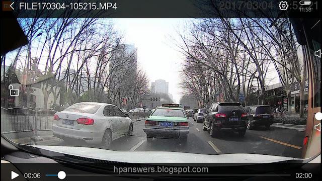 Xiaomi Mijia Car DVR Camera Screen View