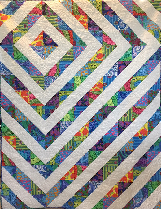 Pebbles Quilt Free Pattern designed By Angela Clark for APQS National Education and Service Director