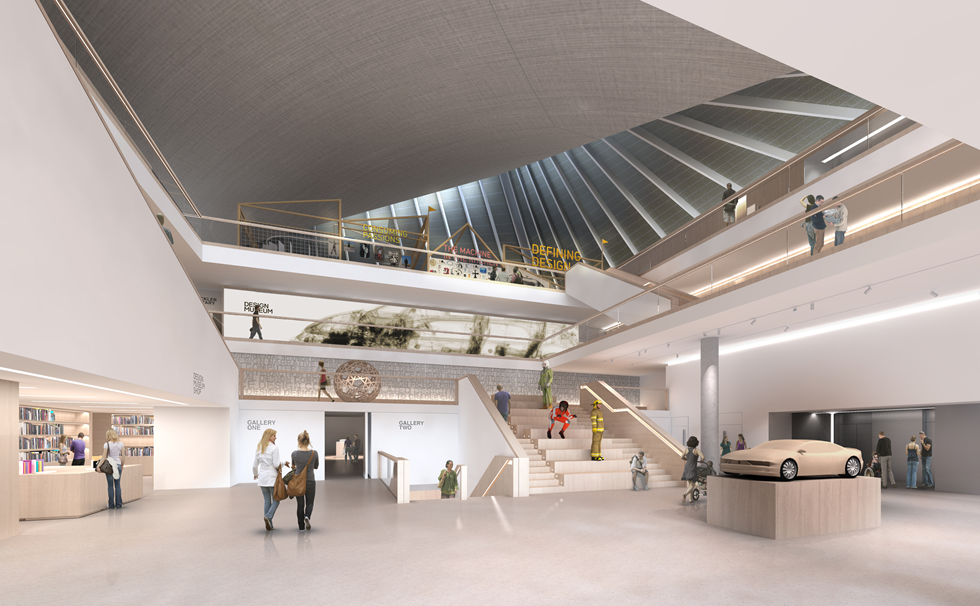 Interior of Old Design Museum at Shad Thames Site
