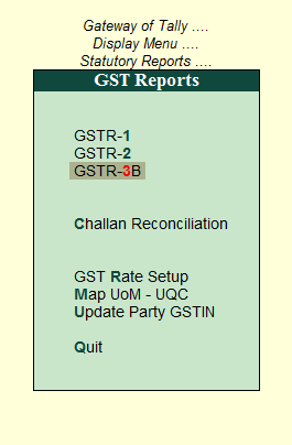 How to Generate and Rectify GSTR 3B in Tally Part - 1 - Tally Knowledge