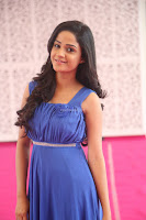 Divya Nandini stunning Beauty in blue Dress at Trendz Exhibition Launch ~  Celebrities Galleries 064.JPG