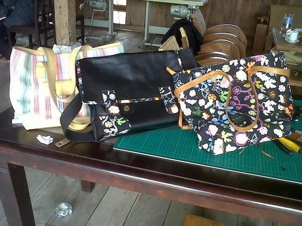 tas wanita hasil kursus selama 5 hari pelatihan membuat tas