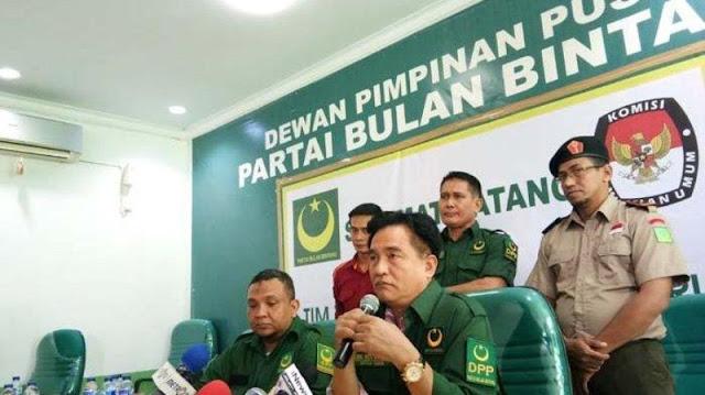 Yusril Sampaikan Dukungan Partai PBB, Saat Bertemu Jokowi