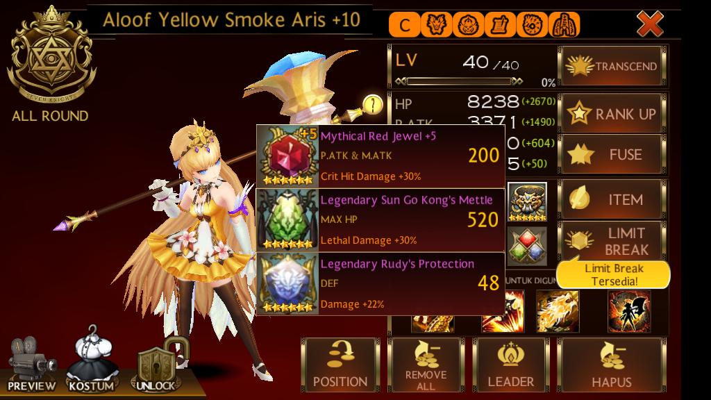 seven knight aloof yellow